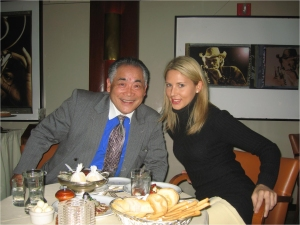 Jack Fujida & Laetitia Garriott celebrating the 13th anniversary of GII Junior Summit '95